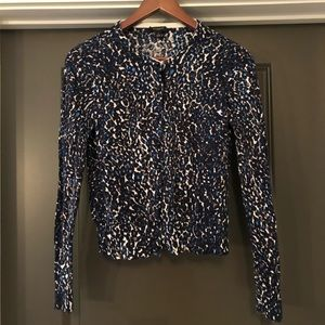 Ann Taylor Sweater Womens Size S Blue